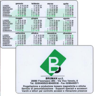 The Phonecard Shop: Bruman s.r.l. (pocket calendar)