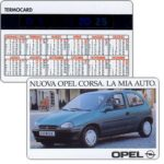 The Phonecard Shop: Italy, Opel Corsa (thermometer / pocket calendar)