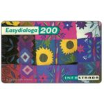 The Phonecard Shop: Italy, Infostrada - EasyDialoga, Ethnic fabrics, 200 units