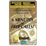 The Phonecard Shop: Italy, Infostrada - Western Union, Finint complimentary 6 min.