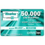 The Phonecard Shop: Omnitel - green card with light effects, 50.000 Lire