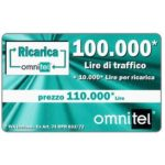 The Phonecard Shop: Omnitel - green card with light effects, 100.000 Lire