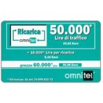The Phonecard Shop: Omnitel - green card, 50.000 Lire