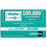 The Phonecard Shop: Omnitel - green card, 100.000 Lire