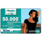The Phonecard Shop: Omnitel - Megan Gale, 50.000 Lire