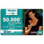 The Phonecard Shop: Italy, Omnitel - Megan Gale, 50.000 Lire
