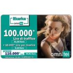 The Phonecard Shop: Omnitel - Tatiana Zavialova, 100.000 Lire