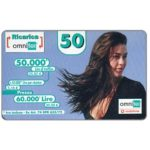 The Phonecard Shop: Omnitel Vodafone - Megan Gale, 50.000 Lire