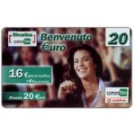 The Phonecard Shop: Omnitel Vodafone - Benvenuto €uro, 20 euro