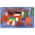 The Phonecard Shop: Italy, America 1st, flags, € 5 / 50 units
