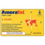 The Phonecard Shop: Ameratel - Debit card, painting by Giorgio Morandi on reverse, L. 20.000
