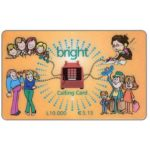 The Phonecard Shop: Italy, Bright - green wordings, L. 10.000 / € 5.15