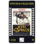 The Phonecard Shop: Italy, C.F.N. - Totò Film Collection n. 36 - Letto a 3 Piazze, ECU 1