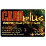 The Phonecard Shop: Card Plus - Map, € 10,33 / L.20.000