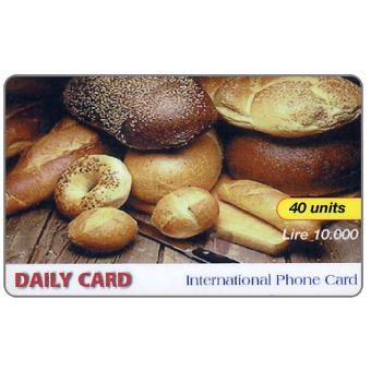 The Phonecard Shop: Daily Card - Bread, 40 units / Lire 10.000
