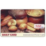 The Phonecard Shop: Daily Card - Bread, 100 units (sticker)