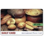 The Phonecard Shop: Italy, Daily Card - Bread, 80 units / Lire 20.000