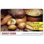 The Phonecard Shop: Daily Card - Bread, 80 units / Lire 20.000 / € 10,32