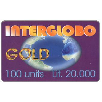 The Phonecard Shop: Interglobo - Gold, 100 units / Lit. 20.000