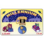 The Phonecard Shop: Millennium - Christmas, L. 10.000 / € 5,15