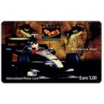 The Phonecard Shop: Planet Communication - Formula 1, Lion's eyes, Euro 5,00