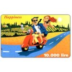 The Phonecard Shop: C3-Tele2 - Happiness, 10.000 lire