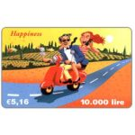 The Phonecard Shop: C3-Tele2 - Happiness, € 5,16 / 10.000 lire