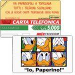 "The Phonecard Shop: Italy, Telecom Italia ""Io, Paperino!"", Lire 5.000 (promo card)"