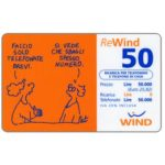 The Phonecard Shop: Italy, Wind - Pat, 50 units