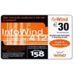 The Phonecard Shop: Wind - Info Wind 412, € 30