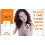The Phonecard Shop: Italy, Wind - Wind Card, 7 euro