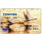 The Phonecard Shop: Toshiba, geese, 1000 units (transportation card)