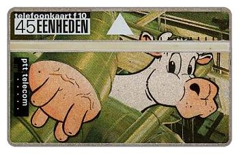 The Phonecard Shop: Cows series, folder with 4 phonecards