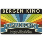 The Phonecard Shop: Norway, Bergen Kino, Familiekortet (cinema card)