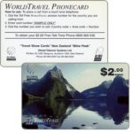 The Phonecard Shop: New Zealand, Global Telecom, World Travel Phonecard sample, $2