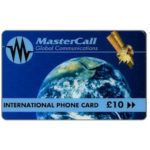 The Phonecard Shop: Great Britain, MasterCall Global Communications - Globe and satellite, £ 10