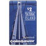 The Phonecard Shop: U.S.A., Ameritech - Coin$aver, Mackinac Island, $2, cardboard specimen card