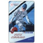 The Phonecard Shop: U.S.A., Laser Radio - Voice Command, promo card signed by artist