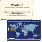 The Phonecard Shop: Schlumberger Pace '91 expo card