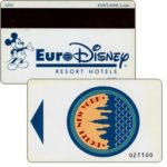 The Phonecard Shop: France, Euro Disney Resort Hotels, Hotel New York (hotel key card)