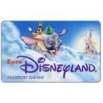 The Phonecard Shop: Dumbo and Goofy, Passeport Enfant (Euro Disneyland ticket)