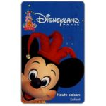 The Phonecard Shop: France, 5th Anniversary, Mickey Mouse, Haute saison - Enfant (Disneyland Paris ticket)