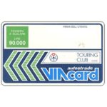 The Phonecard Shop: Italy, Touring Club advertising, L.90,000, Technicard (Viacard)