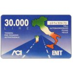 The Phonecard Shop: Italy, Pacchetto Italia, L.30,000, Pikappa (Viacard)