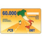 The Phonecard Shop: Italy, Pacchetto Italia, L.60,000, Pikappa (Viacard)