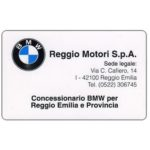 The Phonecard Shop: Italy, Reggio Motori Concessionario BMW, L.50,000, Technicard (Viacard)