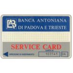 The Phonecard Shop: Italy, Banca Antoniana di Padova e Trieste (service card)