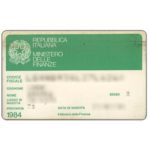 The Phonecard Shop: Italy, Codice Fiscale (identity card)