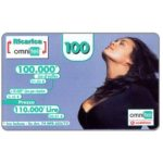 The Phonecard Shop: Italy, Omnitel Vodafone – Megan Gale, 100.000 Lire