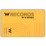 The Phonecard Shop: International, W Records by W Hotels (music card)